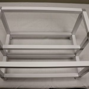 Aluminium Mining rig frame – White-Silver-Brown edition-mine away