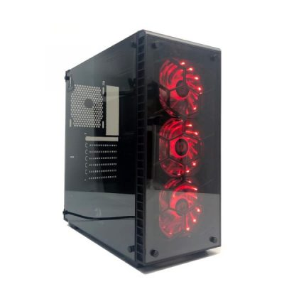 Redragon DAIMONDSTORM Tempered Glass Front_Side_3_RGB Fan ATX Micro ATX – mine away