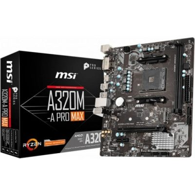 MSI A320M PRO-A MAX AMD AM4 M-ATX DESKTOP MOTHERBOARD-mine away