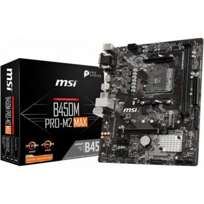 MSI B450M PRO-M2 MAX AMD AM4 B450 Desktop Motherboard-mine away