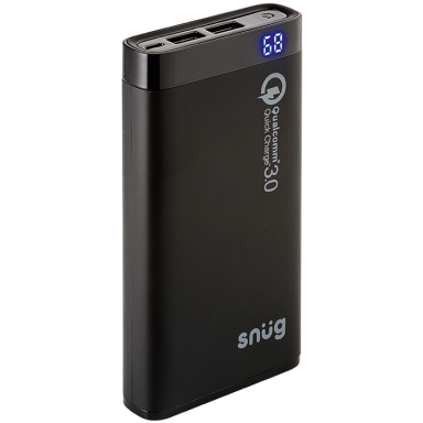 Snug 12000MAH Qualcomm Quick Charge 3.0 Powerbank with LCD Display