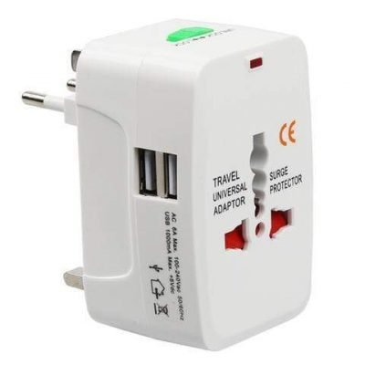 All-In-One Universal Travel Adaptor 1000mA Usb
